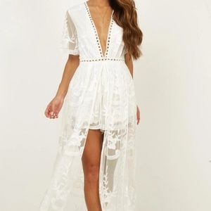 White lace romper/playsuit from Showpo